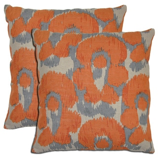 Kosas Home Bella Linen Leopard Print Throw Pillows (Set of 2)