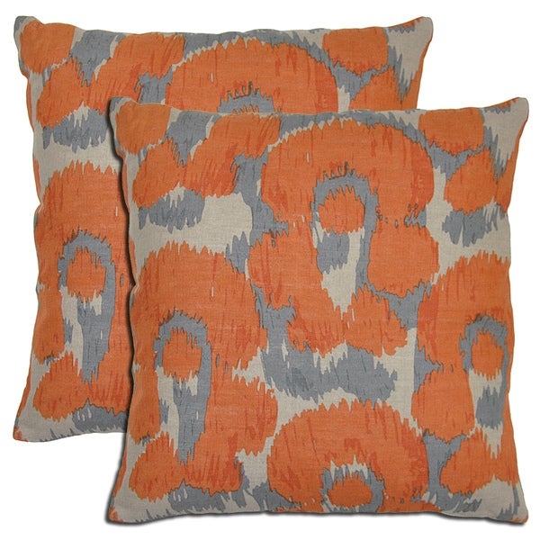 Kosas Home Bella Linen Leopard Print Throw Pillows (Set of 2)