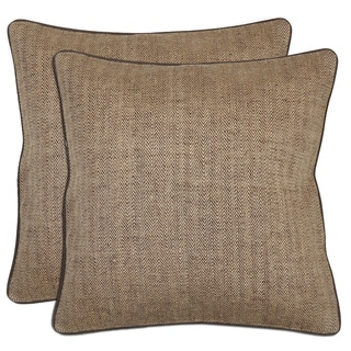 Kosas Home Bella Textured JuteThrow Pillows (Set of 2)
