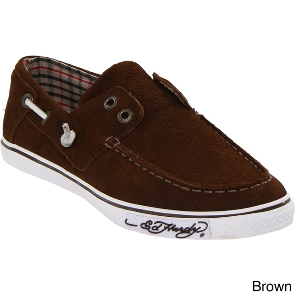 Ed Hardy Women's 'Nalo' Solid Suede Boat Shoes