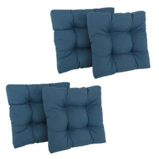 Blazing Needles Tufted Chair Cushions (Set of 4)