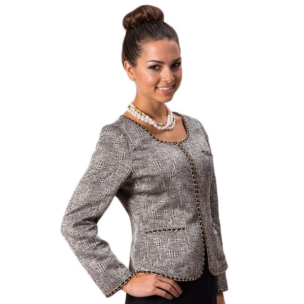 Grace Gallo New York Women's 'Amanda' Grey Formal Jacket