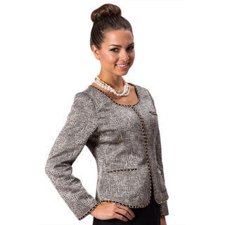 Grace Gallo New York Women's 'Amanda' Grey Formal Jacket