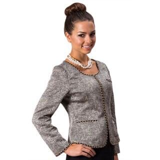 Grace Gallo New York Women's 'Amanda' Grey Formal Jacket (As Is Item)