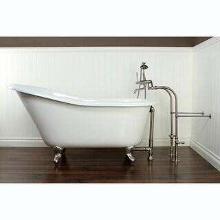 Slipper Cast Iron 60-inch Clawfoot Bathtub