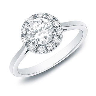 The Astoria by Auriya 14k Gold 1/2ct TDW Diamond Halo Engagement Ring