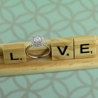 Auriya 14k Gold 1 3/4ct TDW Diamond Double Halo Engagement Ring (H-I, SI1-SI2)