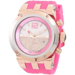 Mulco Unisex 'Glitz' Pink Swiss Quartz Watch