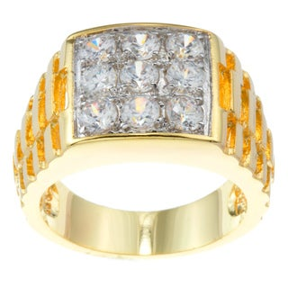 Kate Bissett 14k Gold Overlay Cubic Zirconia Fashion Ring (More options available)
