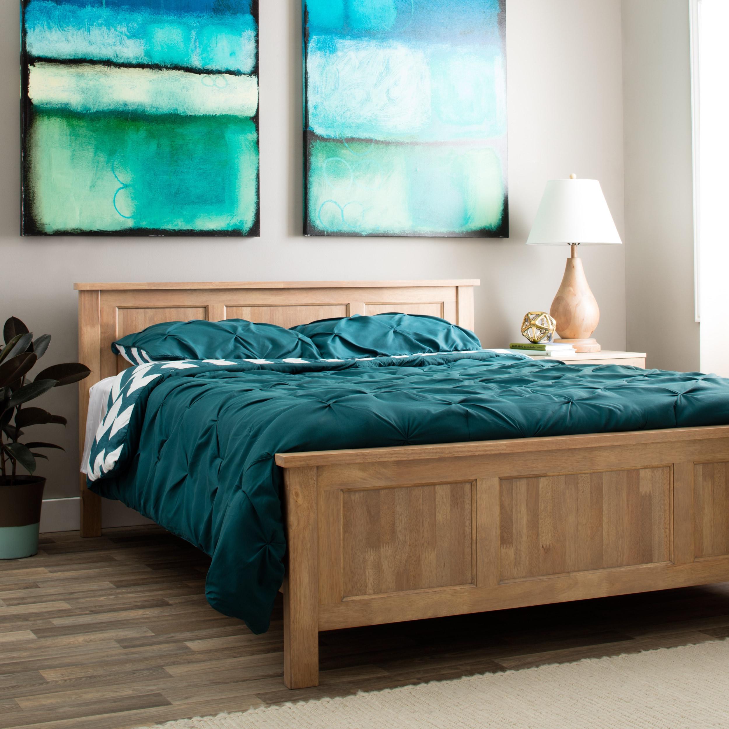 Olympus Queen Platform Bed (Olympus Queen Bed), Brown