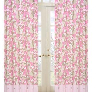 Sweet Jojo Designs Pink and Khaki Camouflage Kids Shower Curtain ...