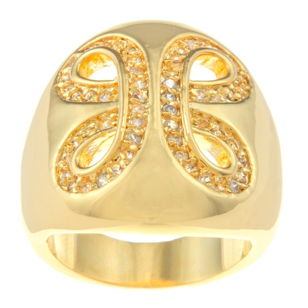 Kate Bissett 14k Gold Overlay Cubic Zirconia Cocktail Ring
