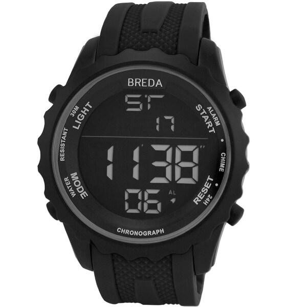 Breda Men's 'Mason' Black Digital Sport Watch