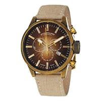 Stuhrling Original Men's Concorso Sport Quartz leather Strap Watch