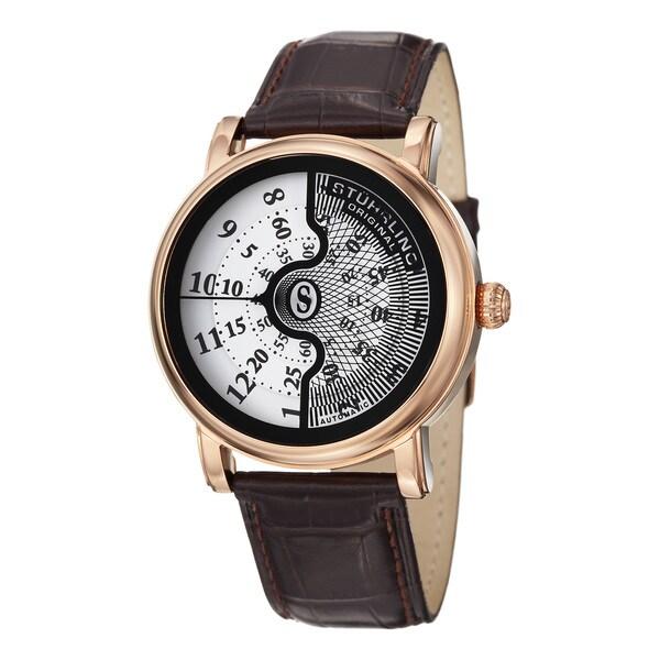 Stuhrling Original Men's Eclipse X Automatic Leather Strap Watch