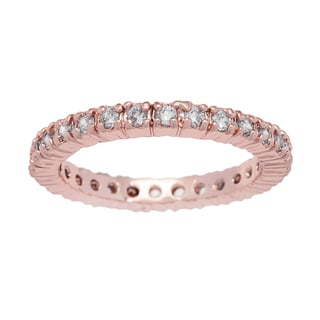 Kate Bissett Rose Goldtone Cubic Zirconia Eternity Band