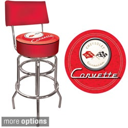 Offically Licensed GM Red Corvette Padded Bar Stool