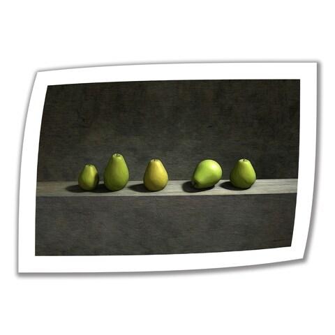 Cynthia Decker 'Five Pears' Unwrapped Canvas