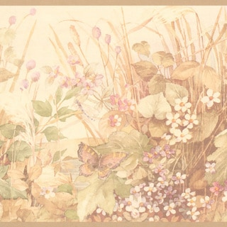 Peach Meadow Border Wallpaper