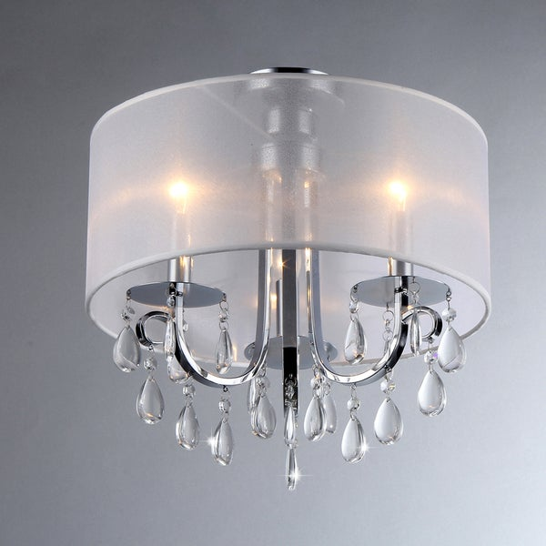 Muses Crystal 16-inch Chrome Chandelier