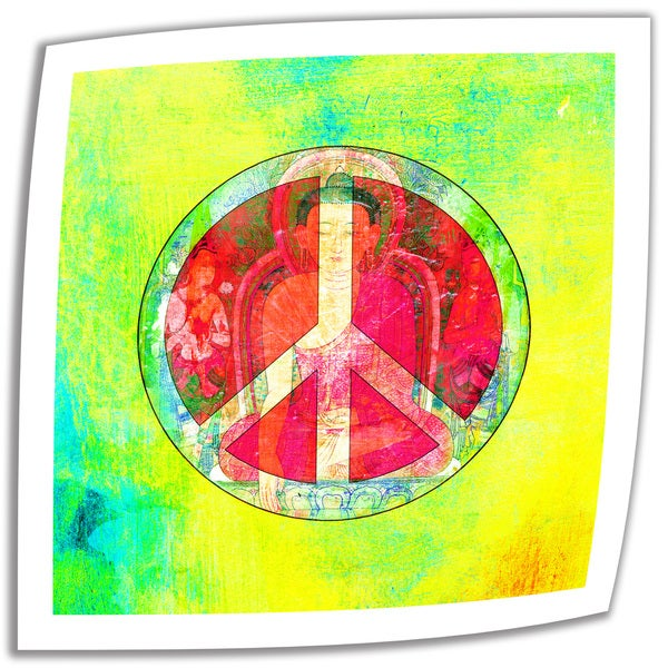 Elena Ray 'Peace Sign' Unwrapped Canvas - Multi