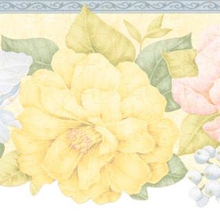 Yellow Floral Border Wallpaper