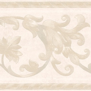 Neutral Scroll Border Wallpaper