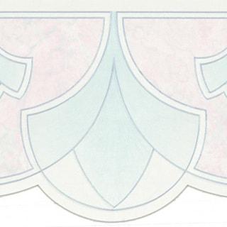Pastel Art Nouveau Border Wallpaper