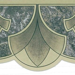 Shop Dark Green Art Nouveau Border Wallpaper Free
