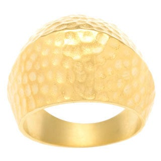 Kate Bissett 14k Gold Overlay Textured Fashion Ring