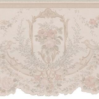 Taupe Cameo Fleur Border Wallpaper