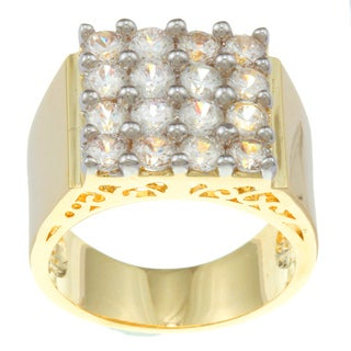 Kate Bissett 14k Gold Overlay Clear Cubic Zirconia Fashion Ring