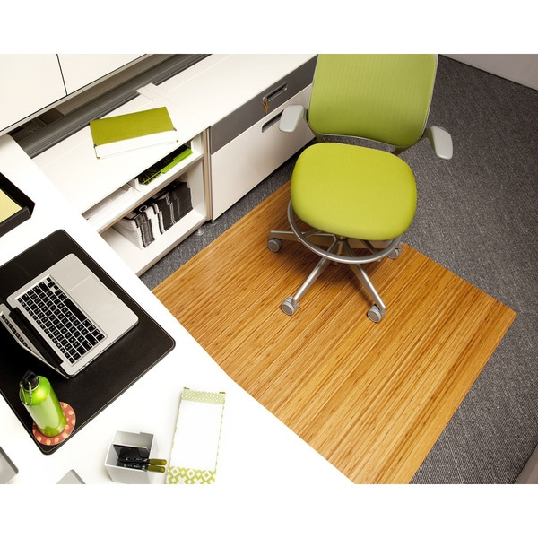 Jani Eco Bamboo Standard Rectangular 5 x 4 ft Chair Mat