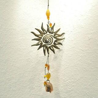 Sun Swirl Wind Chime , Handmade in India
