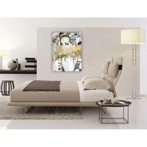 Oliver Gal 'Bloom' People and Portraits Wall Art Canvas Print - Gold, Black