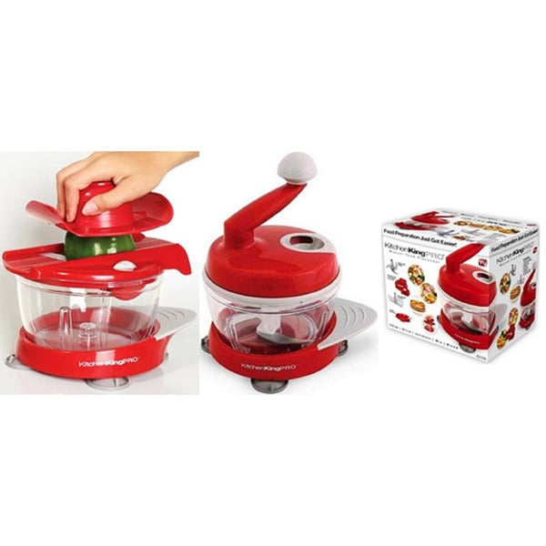 Kitchen King Pro Red 11-piece Food Preparation Station