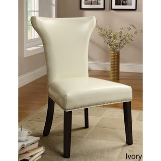 Furniture of America Meri Contemporary Ivory Dining Chairs Set of 2