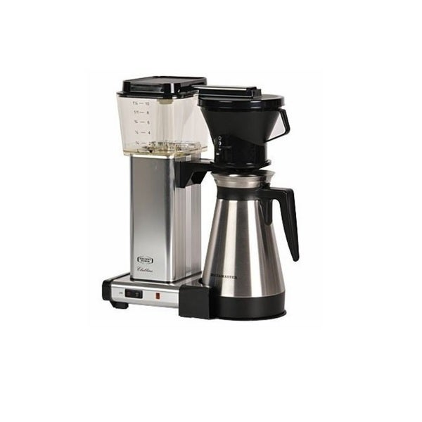 Technivorm Moccamaster KBT 10-Cup Coffee Brewer with Thermal Carafe, Polished Silver