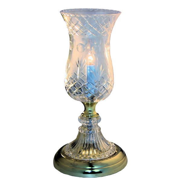 Princess Polished Brass Crystal Essex-cut Shade Uplight Lamp