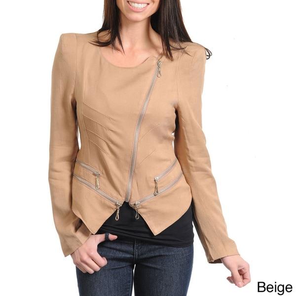 Stanzino Women's Asymmetrical Zip-up Jacket