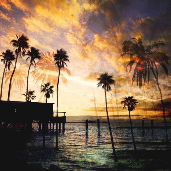 GI Art Lab 'Sunset On the Pier B' Paper Print (Unframed)