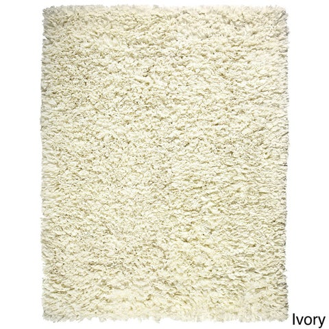 Jani Modern Paper Shag Rug (5' x 8') - 5' x 8'