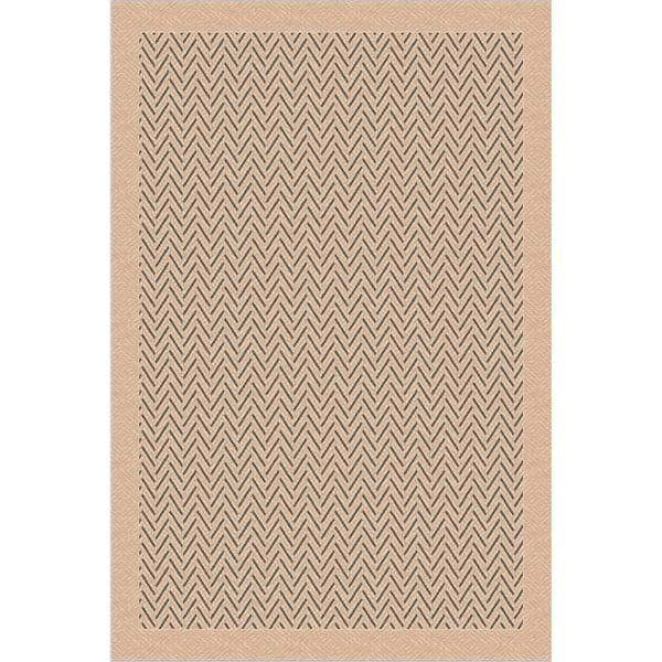 Indoor/ Outoor Rug Herringbone Beige and Grey Area Rug (2'7 x 5'11)
