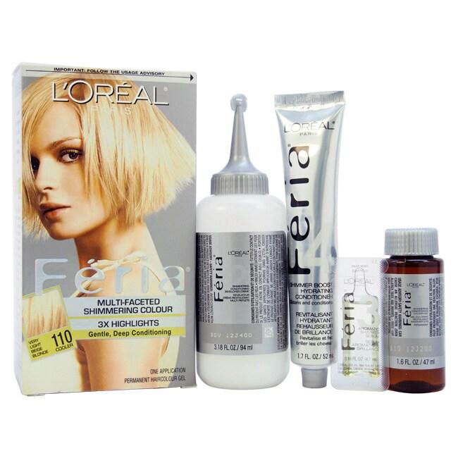 L'Oreal Paris Feria Shimmering Hair Color 110 Very Light ...