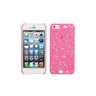INSTEN Pink Bird Nest Mesh Hard Plastic Phone Case Cover for Apple iPhone 5