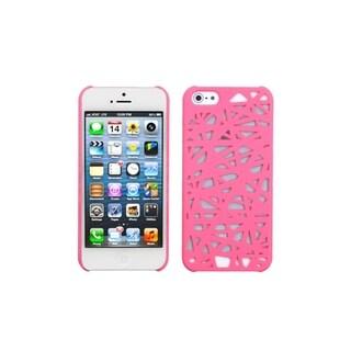 INSTEN Pink Bird Nest Mesh Hard Plastic Phone Case Cover for Apple iPhone 5