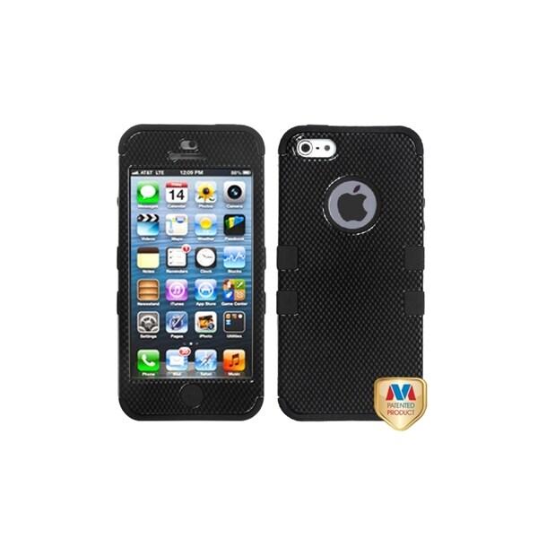 MYBAT Carbon Fiber/ Black Tuff Hard Hybrid Case for Apple iPhone 5