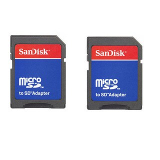 Sandisk MicroSD & MicroSDHC to SD Adapter (Pack of 2)