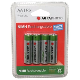 Agfa NiMH Rechargeable 2500mAh Batteries (4 Pack)