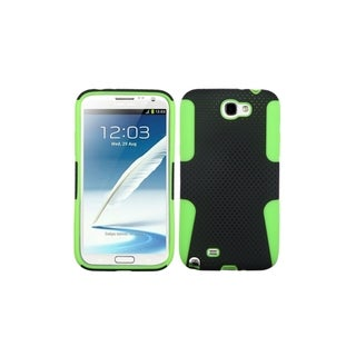 INSTEN Mesh Hole Hybrid Green Phone Case Cover for Samsung Galaxy Note 2